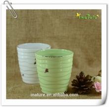 Miniature ceramic flower pot & planter