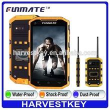5.0 inch unlocked dual sim waterproof smartphone 3g wifi mobile phone with walkie talkie NFC