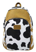 Strong High Quality Cow Printed Canvas Backpack