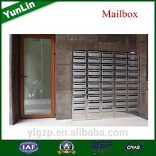 free standing rustproof apartment building mailbox stone post