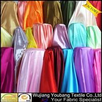 High density shiny polyester satin lining