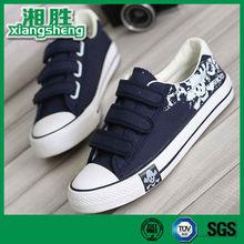 Blue Wholesale Canvas shoes Men with Buckle Strap