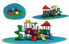 China Advertising wide area kindergarten metal playground slides