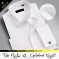 la venta fuera de nuevos artículos de hombre hecho en china de calidad superior blanco de vaquero del oeste de la camisa