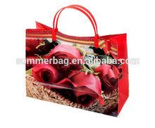 Eco-friendly full printed flower pattern pp bag plastic handle gifts bag samll shopping bag in yiwu jinhua china