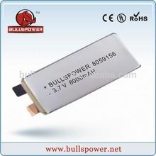 3.7v 1000mah lipo battery 9.6v battery rechargeable li-polymer battery 8000mah 8050156