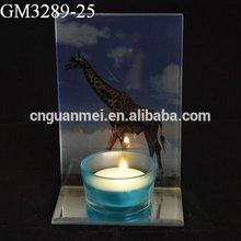 giraffe artwork crystal candle holder centerpieces tealight insert