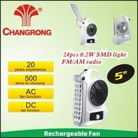 """CR-8105FM/AM 5"""" Emergency Fan Box Fan Radio Function With China brand"""