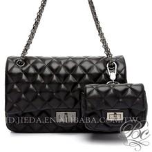 Bellucy brand black diamond check design 2015 evening bag