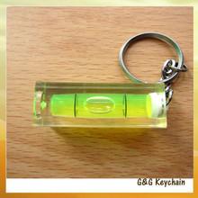 Manufacturers Selling Acrylic Mini Spirit Level Key chain R8063