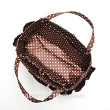 Fashion cotton sling tote bag for women