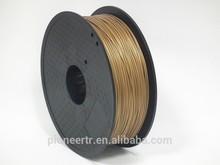China best supplier golden 1.75mm abs 3.00mm pla 3D printer filament