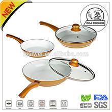 3 Pieces Green Life Ceramic /Marble Coating Aluminum Dish Pan