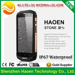 NEW Arrival 5.0 Inch IPS HD1280*720p Qualcomm Quad core 1G Ram 8G Rom IP67 Waterproof Android 4.4.2 4G LTE Rugged Mobile Phones