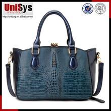 Wholesale fashion new design croco pattern guangzhou bags handbags fashion
