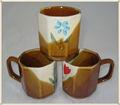 8 oz cerámica pintada a mano taza / taza de cerámica de la cebra taza / taza brown