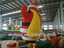 2014top quality cheap price Santa Clause Christmas inflatable model for decoration !!!