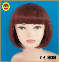 red bang curly barbie doll wig short wig