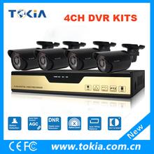 720p/960h circuito cerrado de televisión de alta definición de canal 4 ahd seguridad dvr kits con 1.0mp ahd de la cámara