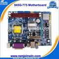 aprobado de doble núcleo 945 chipset 1066 800 533 fsb ddr3 mejor 775 toma de placas base