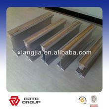 Aluminium building material extruded beams