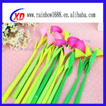 rubber silicone pen with flower