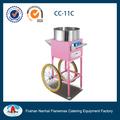 comercial elétrica máquina de algodão doce máquina de venda com carrinho