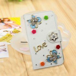 3D flip wallet case for ZTE ZMAX,bling bling case for ZTE Z970 mobile phone