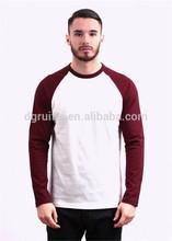 2 colors plain men long sleeves o neck t shirt made in dongguan china