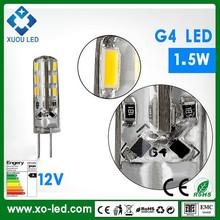 2015 hot sale 1.5w led bulb light g4 light SMD 2835 led corn bulb AC/DC12V