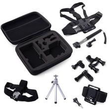 2014 Wholesale Full Holder Accessories Set Chest Strap /Monopod/ Tripod for Gopro Hero 2 3 3+