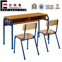 School Desk for Two People, Children Table and Chair Set, Teen Table and Chairs