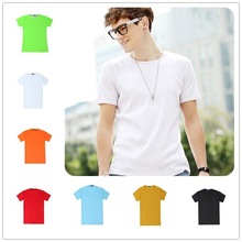 160 grams made in China spandex/cotton work t shirt brand white