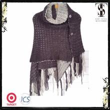 knitted acrylic winter pashmina shawl