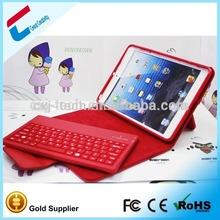 2014 best design PU leather Case Bluetooth Keyboard for iPad Mini ,wireless keyboard for ipad mini