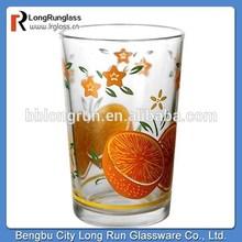 LongRun christmas decoration china supplier summer fruit printing drinking glass juice glass