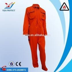 Orange Cotton High Vis Reflective Safety EN531 Fire Retardant Coverall Wholesale