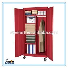 Modern simple design steel storage cheap closet bedroom wardrobe designs /metal Wardrobe Closet