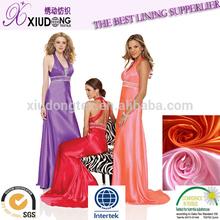 evening dress fabric/polyester satin/dull spandex satin