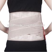 curved breathable lower back belt, medical elastic waist belt for ladies only