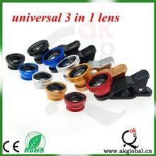 Universal Lens Clip for Mobile Phone 3 in 1 lens