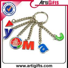Handmade cheap metal alloy girl shaped key chain