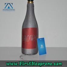 Custom Logo 3mm Thick Neoprene Gel Wine Bottle Cooler