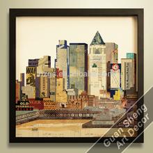 landscape canvas wall arts/ landscape picture framed prints/ famous building wall arts