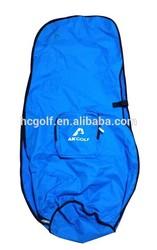 blue customized poly travel golf bag