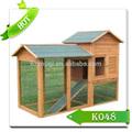 Patio trasero de madera de pollo coop& casa de gallina con correr al aire libre