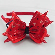 custom fashion large bow headband