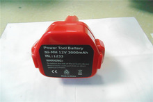 2014 hot sales NI-MH 12V 3000mAh BL1233 power tool battery