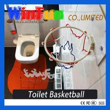 Toilet Toy Basketball Hoop Bakettball Set For Bathroom