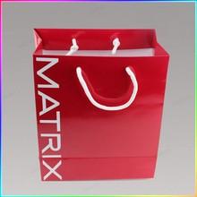 Customized logo printed paper shopping bag